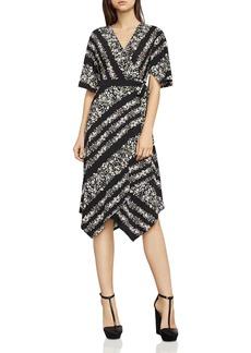 BCBGMAXAZRIA Madalyn Floral Print Asymmetric Wrap Dress