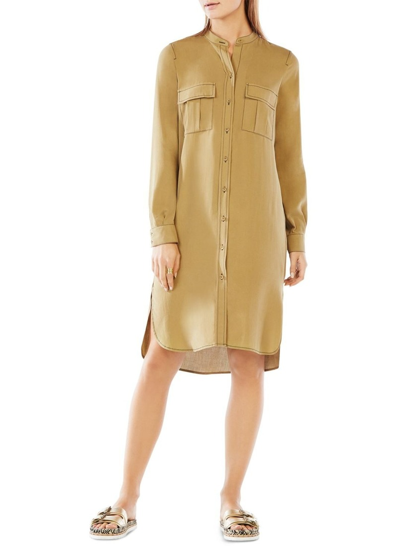 BCBG Max Azria BCBGMAXAZRIA Maddox Silk Shirt Dress