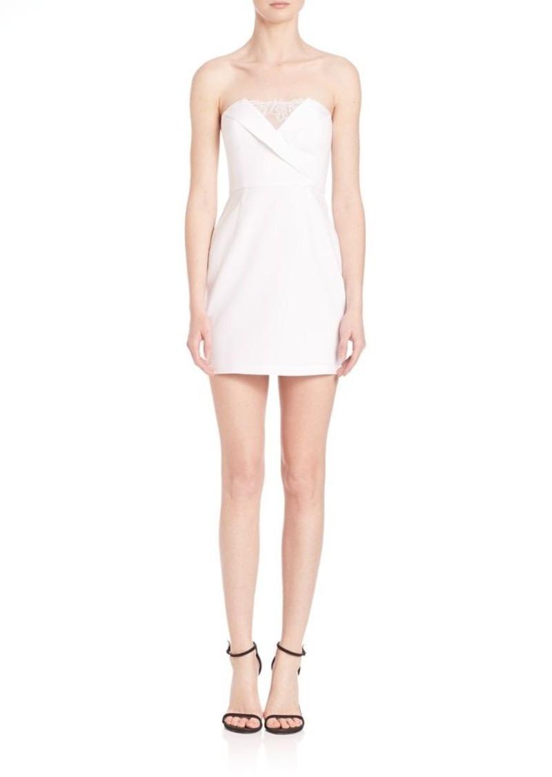BCBG Max Azria BCBGMAXAZRIA Madelaine Strapless Lace-Trim Dress