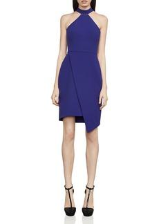 BCBGMAXAZRIA Makenna Asymmetric Sheath Dress