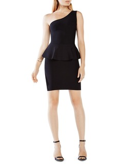 BCBGMAXAZRIA Malia One-Shoulder Peplum Dress