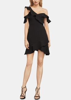 BCBG Max Azria Bcbgmaxazria Malik Asymmetrical Off-The-Shoulder Dress