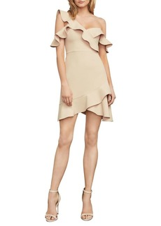 BCBGMAXAZRIA Malik Ruffle Asymmetrical Dress
