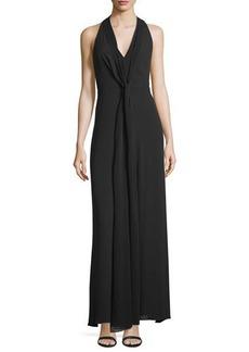 BCBG Max Azria BCBGMAXAZRIA Mara Tie--Neck Sleeveless Maxi Dress