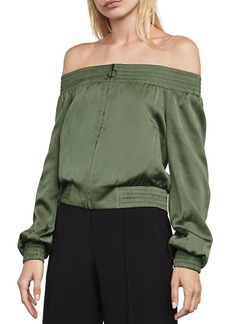 BCBGMAXAZRIA Marco Off-the-Shoulder Bomber Jacket