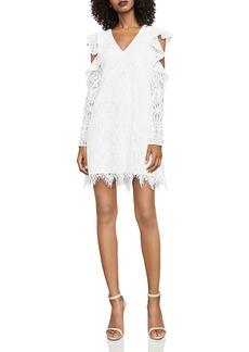 BCBG Max Azria BCBGMAXAZRIA Marian Cold-Shoulder Lace Dress