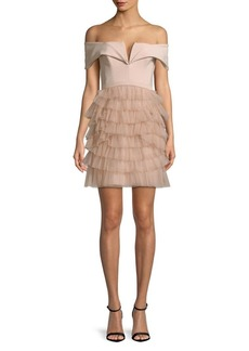 BCBGMAXAZRIA Marquise Off-The-Shoulder Dress