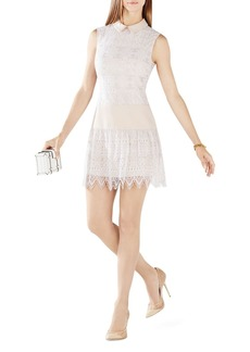 BCBGMAXAZRIA Marsha Collar Lace Dress