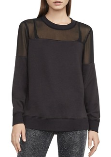 BCBGMAXAZRIA Martina Mixed Media Sweatshirt