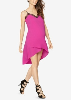 BCBG Max Azria Bcbgmaxazria Maternity Lace-Trim High-Low Dress