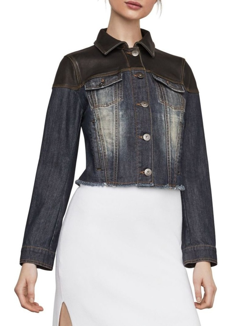 6a78590229 BCBG Max Azria BCBGMAXAZRIA Maya Cropped Denim Jacket | Outerwear