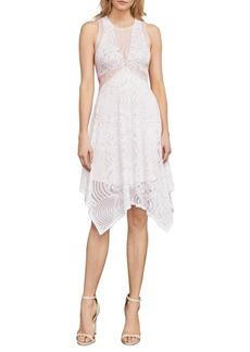 BCBG Max Azria BCBGMAXAZRIA Meilani Asymmetrical Floral Lace Dress