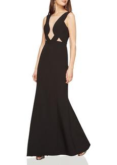 BCBGMAXAZRIA Mesh Bodice Cutout Gown