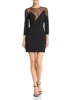 BCBGMAXAZRIA Mesh Illusion Dress