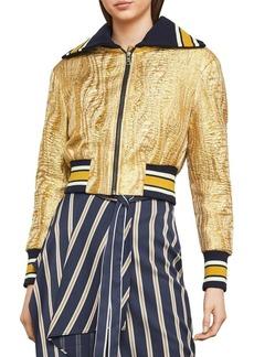 BCBG Max Azria BCBGMAXAZRIA Metallic Embellished Jacket