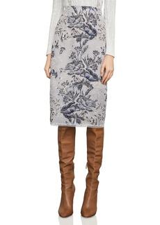 BCBGMAXAZRIA Metallic Embroidered Pencil Skirt
