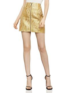 BCBG Max Azria BCBGMAXAZRIA Metallic Jacquard Mini Skirt
