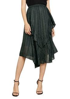 BCBG Max Azria BCBGMAXAZRIA Metallic Striped A-Line Skirt