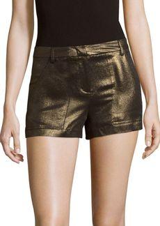 BCBG Max Azria BCBGMAXAZRIA Metallic Zipped Shorts