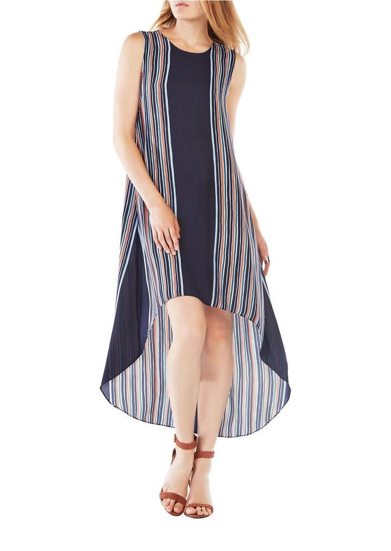BCBG Max Azria BCBGMAXAZRIA Mickayla Striped High-Low Dress