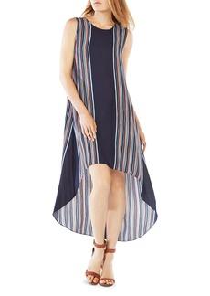 BCBGMAXAZRIA Mickayla Striped High/Low Dress