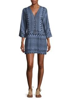BCBGMAXAZRIA Milana Printed V-Neck Dress