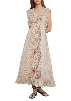 BCBG Max Azria BCBGMAXAZRIA Mixed-Floral Ruffled Maxi Dress