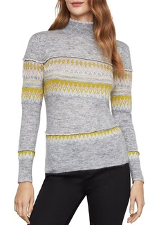 BCBG Max Azria BCBGMAXAZRIA Mixed Intarsia Mock-Neck Sweater