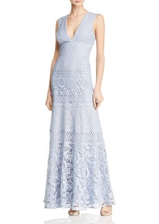 BCBG Max Azria BCBGMAXAZRIA Mixed Lace Gown
