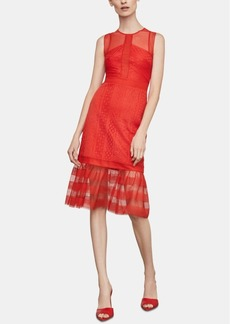 BCBG Max Azria Bcbgmaxazria Mixed-Lace Illusion Dress