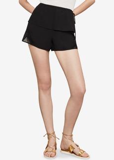BCBG Max Azria Bcbgmaxazria Mixed-Media Lace Shorts