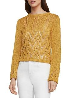 BCBG Max Azria BCBGMAXAZRIA Mixed Stitch Crop Sweater