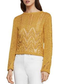 BCBG Max Azria BCBGMAXAZRIA Mixed-Stitch Sweater