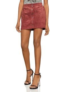 BCBG Max Azria BCBGMAXAZRIA Mora Faux-Suede A-Line Mini Skirt