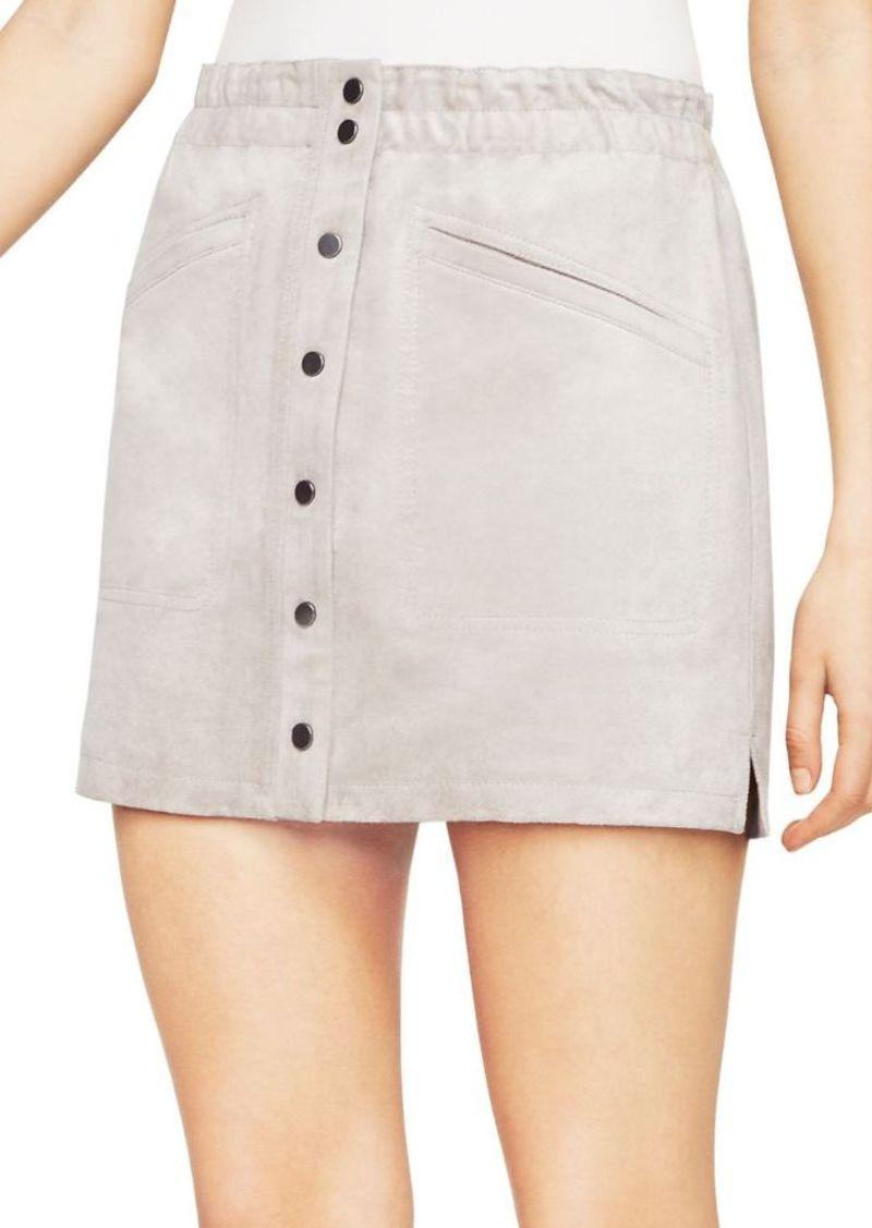 5ee06a459 BCBG Max Azria BCBGMAXAZRIA Mora Faux-Suede Miniskirt | Skirts