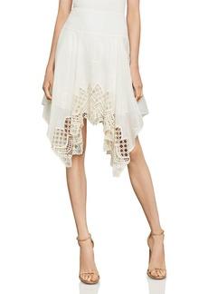 BCBG Max Azria BCBGMAXAZRIA Mosaic Embroidered-Trim Skirt