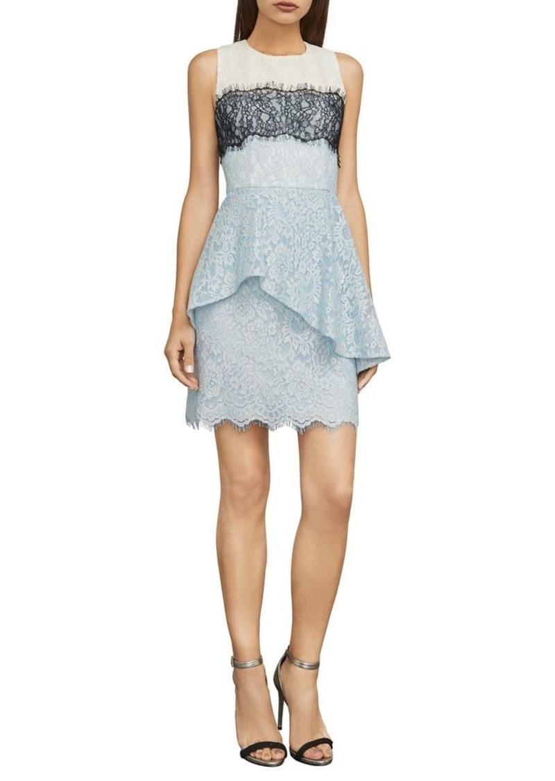 Long Lace Peplum Dress