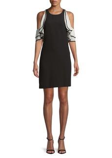 BCBG Max Azria BCBGMAXAZRIA Norah Cold-Shoulder Shift Dress