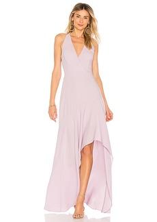 BCBG Max Azria BCBGMAXAZRIA Obree Halter Dress In Lavender