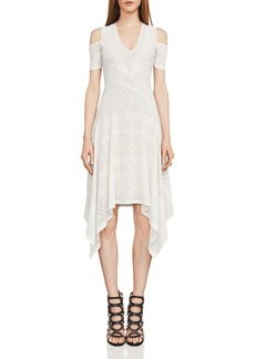 BCBG Max Azria BCBGMAXAZRIA Odette Cold-Shoulder Lace Dress