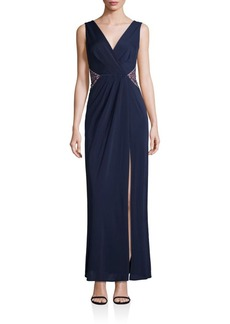 BCBGMAXAZRIA Off-Center Slit Gown