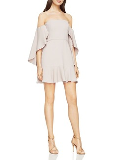 BCBGMAXAZRIA Off-the-Shoulder Flutter Sleeve Dress - 100% Exclusive
