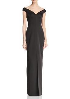 BCBG Max Azria BCBGMAXAZRIA Off-the-Shoulder Gown - 100% Exclusive