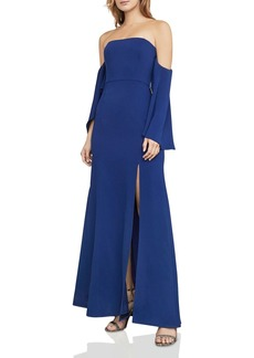 BCBGMAXAZRIA Off-the-Shoulder Gown