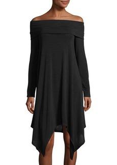 BCBG Max Azria BCBGMAXAZRIA Off-The-Shoulder Handkerchief Dress