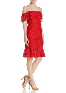 BCBG Max Azria BCBGMAXAZRIA Off-the-Shoulder Lace Dress