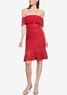 BCBG Max Azria Bcbgmaxazria Off-The-Shoulder Lace Overlay Dress
