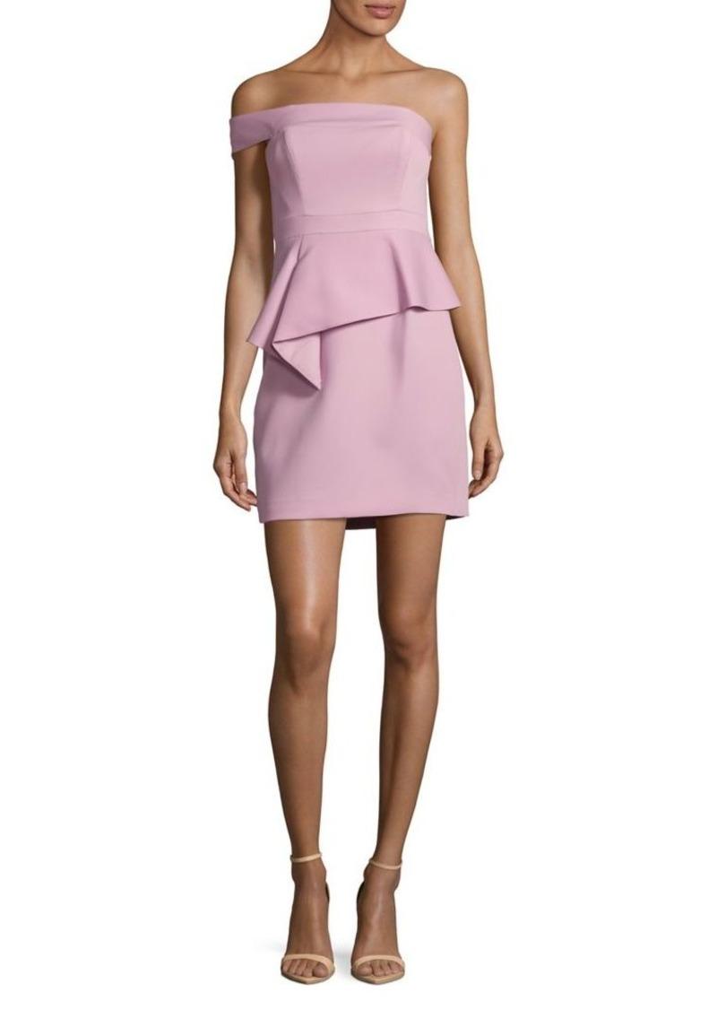 BCBG Max Azria BCBGMAXAZRIA Off-the-Shoulder Peplum Dress | Dresses