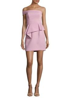BCBG Max Azria BCBGMAXAZRIA Off-the-Shoulder Peplum Dress