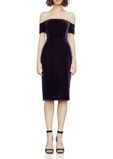 BCBGMAXAZRIA Off-the-Shoulder Velvet Dress